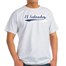 Blue Vintage: El Salvador Ash Grey T-Shirt