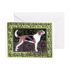 American Foxhound Dog Christmas Greeting Cards