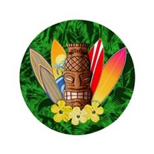 "Tiki And Surfboards 3.5"" Button (100 pack)"