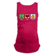 Peace Love Pumpkin Maternity Tank Top