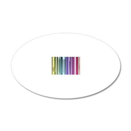 color barcode 20x12 Oval Wall Decal