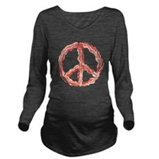 Peace of Bacon Long Sleeve Maternity T-Shirt