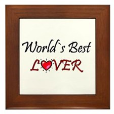 ...World`s Best Lover... Framed Tile