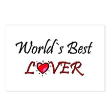 ...World`s Best Lover... Postcards (Package of 8)