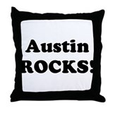 Austin Rocks! Throw Pillow