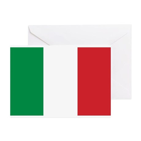 Flag of Italy Greeting Cards (Pk of 10)