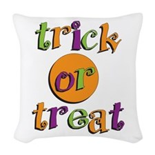 Trick or Treat 2 Woven Throw Pillow