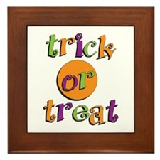Trick or Treat 2 Framed Tile