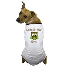 Personalized Little Brother Dog T-Shirt