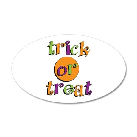 Trick or Treat 2 20x12 Oval Wall Decal