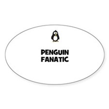 penguin fanatic Oval Decal