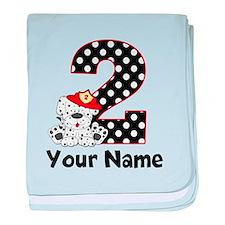 2nd Birthday Dalmatian baby blanket