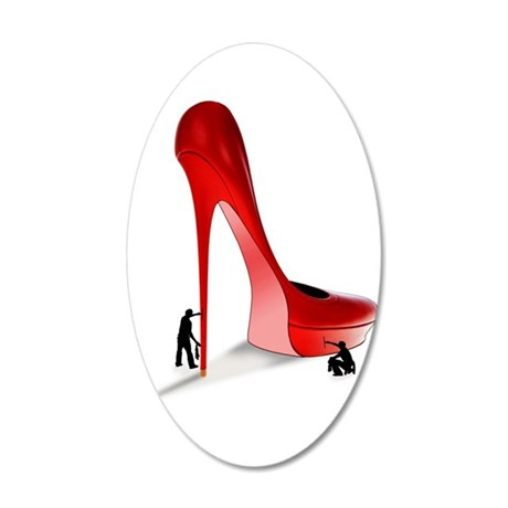 Giant Red Stiletto Art Wall Decal