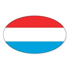 Flag of Luxemburg Oval Decal