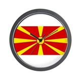 Flag of Macedonia Wall Clock