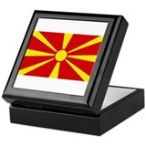 Flag of Macedonia Keepsake Box