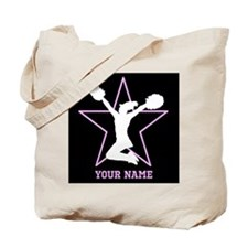 Cheerleader Pink and black Tote Bag