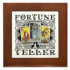 Fortune Teller black Framed Tile