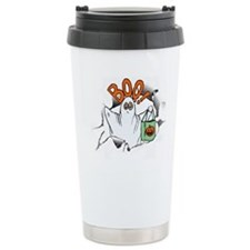 Ghost in Torn Shirt Thermos Mug