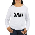 Captain (Front) Women's Long Sleeve T-Shirt