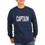 Captain (Front) Long Sleeve Dark T-Shirt