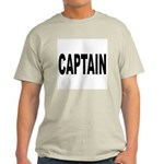Captain (Front) Ash Grey T-Shirt
