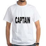 Captain (Front) White T-Shirt