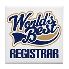 Registrar (Worlds Best) Tile Coaster