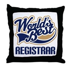 Registrar (Worlds Best) Throw Pillow