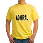 Admiral (Front) Yellow T-Shirt