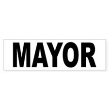 Mayor Bumper Car Sticker