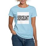 Sergeant (Front) Women's Pink T-Shirt