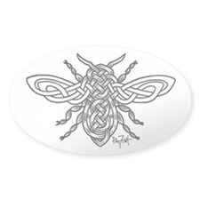 Celtic Knotwork Bee - black lines Decal