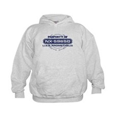 Property of USS Prometheus (Blue-Grunge) Hoodie
