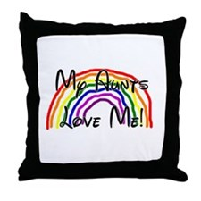 Rainbow Love Aunts Throw Pillow