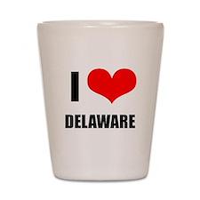 I Love Delaware Shot Glass