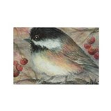 Chickadee Rectangle Magnet