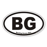 Bowling Green BG Euro Oval Decal