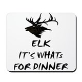 elk its whats for dinner Mousepad