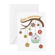 Bird Whisperer Greeting Cards