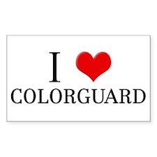 I Heart Colorguard Rectangle Decal