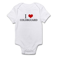 I Heart Colorguard Infant Bodysuit