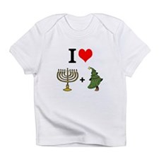 I Heart Hanukkah and Christmas Infant T-Shirt