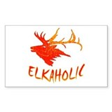 Elkaholic Rectangle Decal