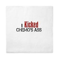 I Kicked Chemo's Ass Queen Duvet
