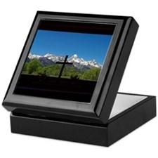 Chapel View of the Grand Tetons Keepsake Box