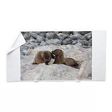 Baby Sea Lions Galapagos Beach Towel