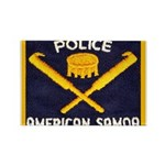 Samoa Police Rectangle Magnet