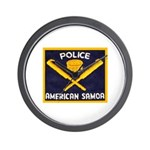 Samoa Police Wall Clock