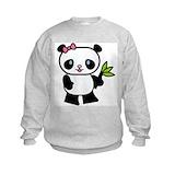 Kids panda sweatshirt Crew Neck
